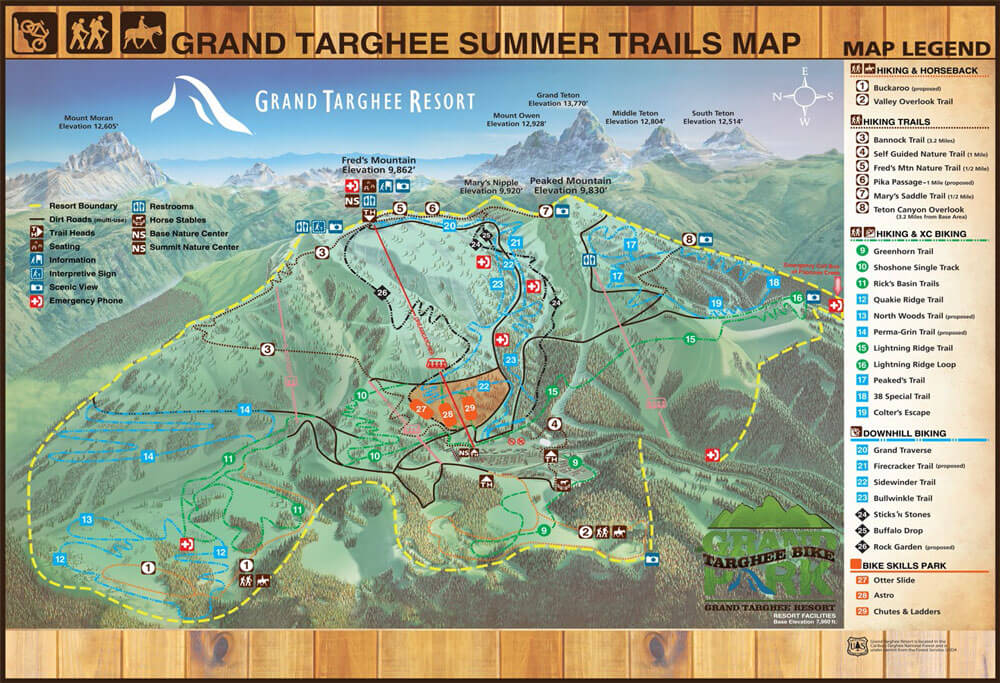 grand targhee trail map
