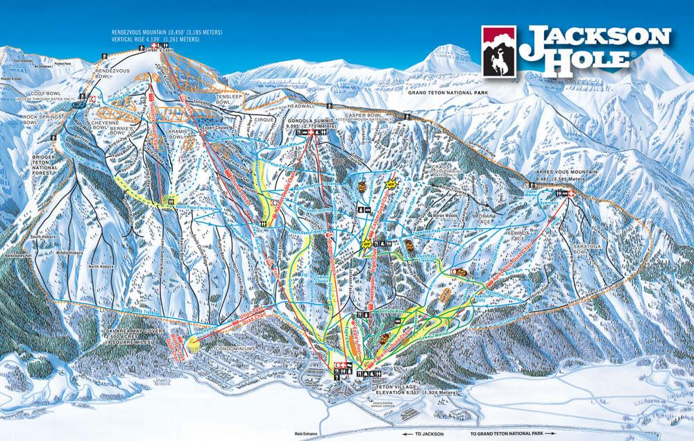 Jackson Hole Mountain Resort Winter Trail Map