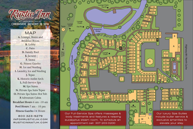 Rustic Inn Resort Map