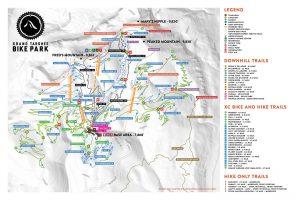 Grand Targhee summer map for 2019