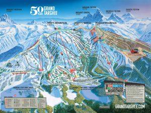 Grand Targhee winter map for 2019