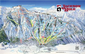 Jackson Hole winter map for 2019